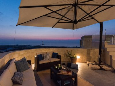 Photo for Luxury villa ideal for big groups, sea & sunset view