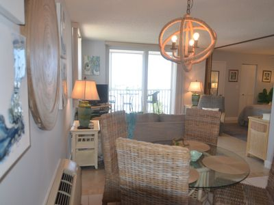 Photo for Steps to the beach, excellent Gulf views from newly redecorated penthouse condo!