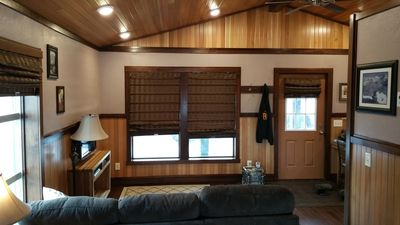 Photo for Luxury rental cabin with spectacular views of glacier on a large private lot