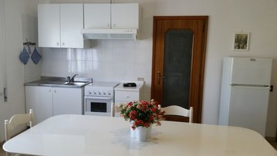 Photo for Two-roomed apartment with a view of the hills and close to the sea.