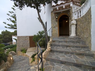 Photo for Spacious villa with amazing sea views . 150 meters from the beach