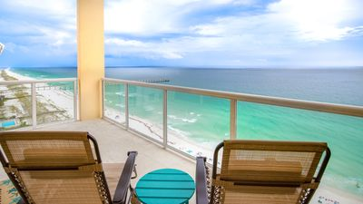 Photo for Caribbean Resort Gulf Front Penthouse! Sea La View