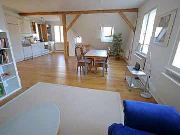Spacious 3-bedroom attic apartment in the countryside