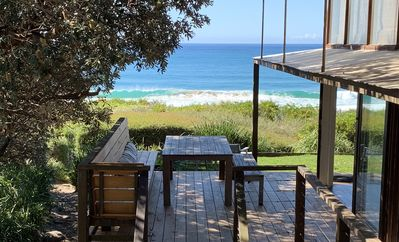 View from outdoor dining to the ocean