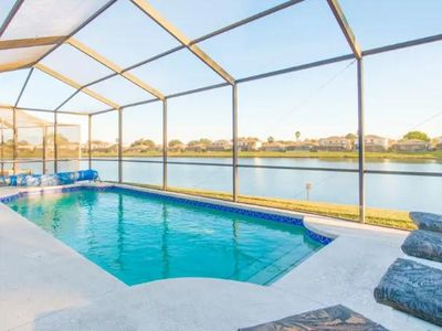 Photo for Sunset Lake Home With Lake View Near Disney!