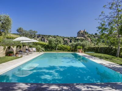 Photo for Luxury spacious apartment, large private pool, terrace, peaceful country views