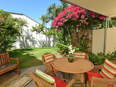 Photo for Maui Kamaole M106: Luxury ground floor condo in South Kihei