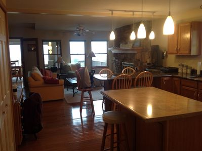 Open layout from the kitchen -- great for entertaining!