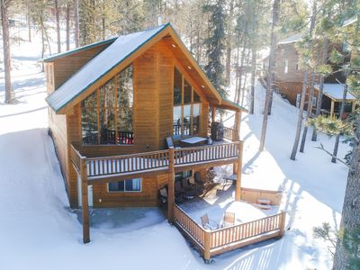 Photo for Unique 4 BR Cabin on Terry Peak with Hot Tub and Private Game Room!