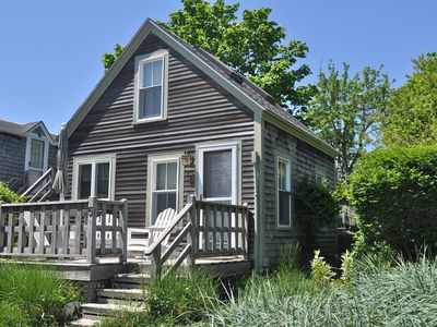Photo for PET FRIENDLY RENOVATED 1BR/1BA COTTAGE - 3-MIN WALK TO TOWN CTR, 2 DECKS, YARD