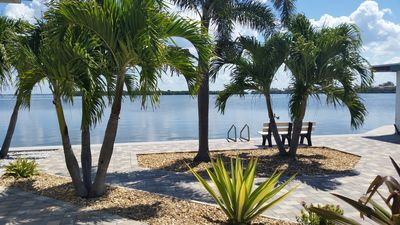 Photo for Longboat Key Villa on bay with private dock and private beach