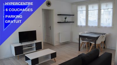 Photo for Hypercentre apartment sleeps 6/2 bedrooms