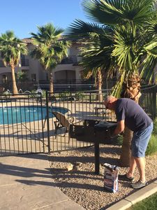 Photo for New Luxury Town home, 3.5 miles from Phoenix Mesa airport. Pool, hot tub, gated.