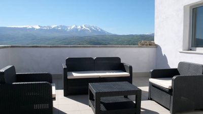 Photo for Stone holiday house with an incredible view on the Maiella Mountain.