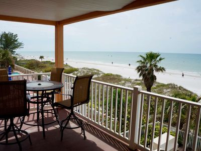 Photo for Newly Renovated Beachfront,  Wi-Fi, Cable & Phone, Pool, BBQ, Beach Chairs, W/D- 205 Casa de Playa