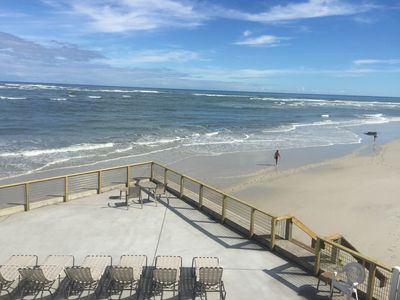 All new concrete deck right on the beach