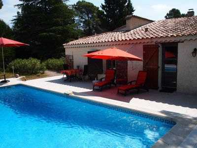 Photo for Detached house with garden and private pool, at 15 km from the Mediterranean Sea