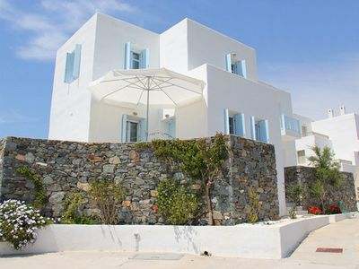 Photo for Cycladic Dream Family Beach House 2' walk to the beach