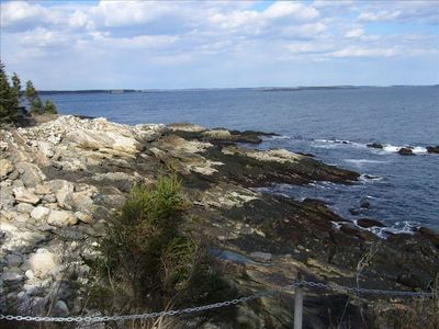 Photo for Pemaquid-4B/2BA Oceanfront Home on 12 private acres on Long Cove. Sleeps 8
