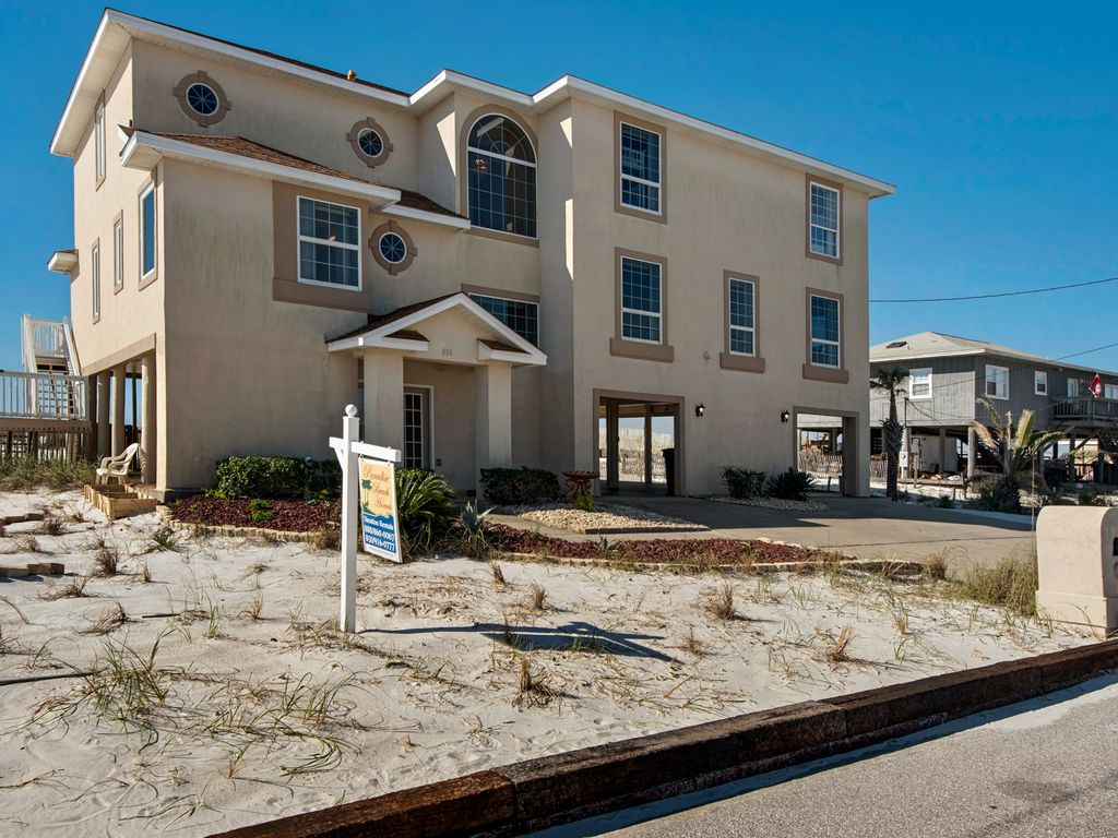 Direct Gulf Front 7 Bedroom Enormous Home 4500 Square Feet Pensacola Beach Florida