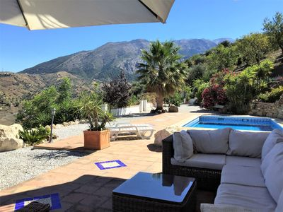Photo for Luxury villa with private pool, privacy and panoramic views of mountains and lake