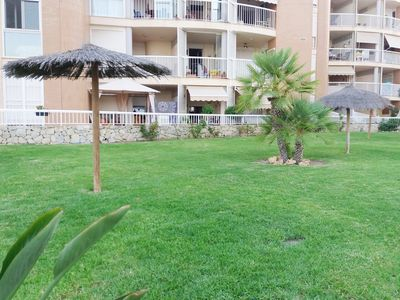 Photo for Direct views of the sea from this spacious apartment with Urbanization and parking.