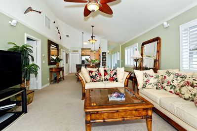 Professionally Furnished and Decorated Living Room