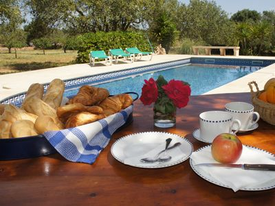 Photo for Typical Majorcan villa with private swimming pool and garden in Santanyí