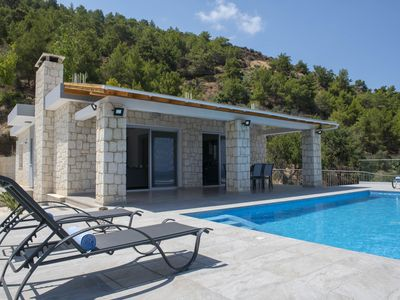 Photo for Sea and mountain views, private pool,  peaceful area, A/C