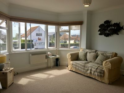 Photo for Spacious, light & airy space, very close to the beach & shops with sea glimpses!