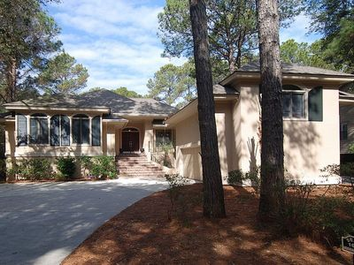 Photo for 4 Bedroom / 4 Bath home in Palmetto Dunes, with a private pool and just 5 mins to the beach!
