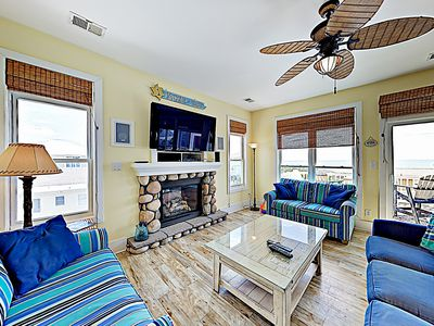 Living Area - The main living area on the 2nd floor provides a welcoming gathering place with ocean views.