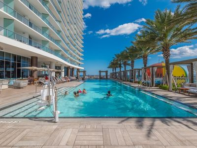 Photo for Gorgeous Ocean View 1 Bedroom at Hyde Beach Luxury Condo-Resort