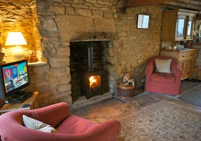 A log burner keeps it cosy all year round