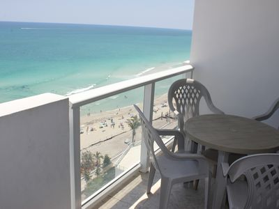 Photo for Fantastic Balcony Beach front View in the best area with parking.