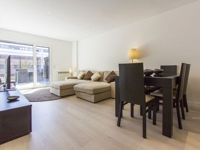 Photo for 2 room apartment with AC and amanzing terrace Parque das Naçoes