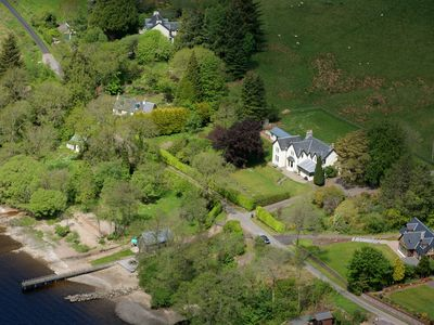 Photo for Luxury Scottish holiday house on the shores of Loch Awe with boat house, jetty,