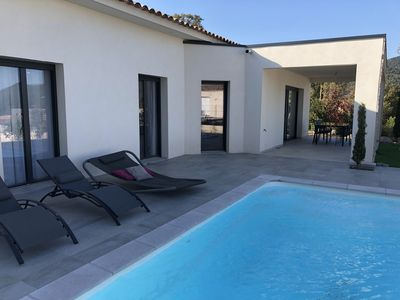 Photo for Friendly 4 bedroom villa with pool in Saint Lucia of Porto Vecchio.