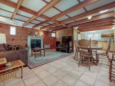 Photo for Serene creekside home w/ private hot tub & deck - close to river/woods, dogs OK!