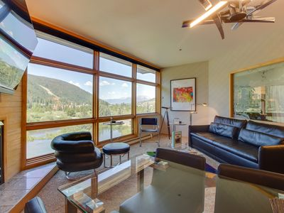 Photo for NEW LISTING! High-end condo w/mountain views, easy ski access & jetted tub!