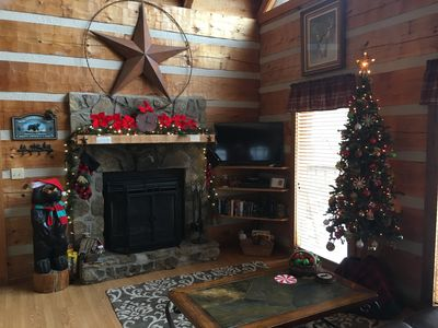 Christmas at the cabin.