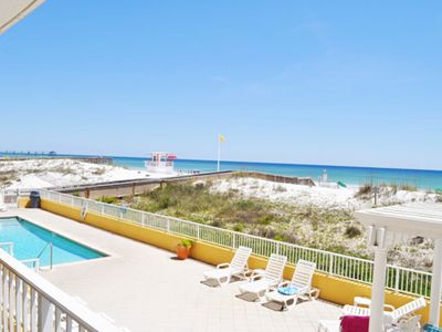 Photo for Beach Front Condo, 2nd Floor Direct View of the Beach.  Close to Pool, gd107
