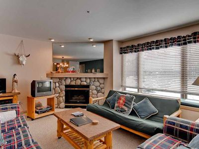 Photo for Ski-in/out condo with community Pool & Hot Tub, Vaulted Ceilings