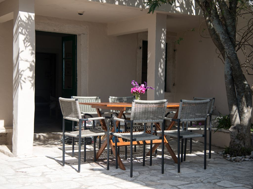 Villas Kalypso Ne Corfu Sleeps 10 In 2 Vill Homeaway Key West Boat Fuse Box Down Stairs Lunch Area