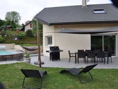 Photo for Contemporary house with pool between Lake Annecy and Aix les Bains