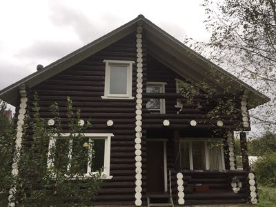 Photo for Countryside cottage. Wooden DACHA.