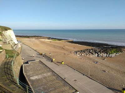 Photo for STUNNING sea view right on the beach!