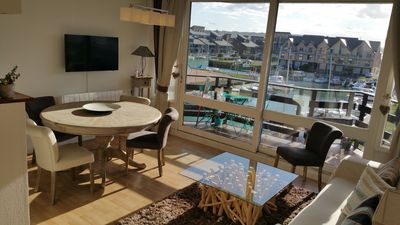Photo for MARINA DEAUVILLE Triplex from 2 to 4 pers. Sea view and pond. Wifi, HD TV
