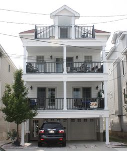 Photo for Beautiful Newer Home On A Quiet Tree Lined Street Steps From The Beach