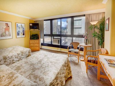Photo for Action at your doorstep! Studio w/AC, WiFi, Flat Screen+Kitchenette–Waikiki Grand 618